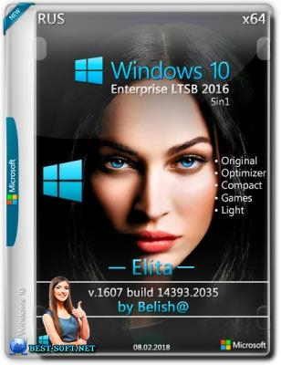 Windows 10 LTSB-2016 Elita (x64) Bellish@ [Ru-Ru].iso NT=(14393.2035)