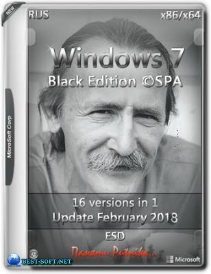 Windows 7 SP1 BLACK EDITION ©SPA (x86-x64)
