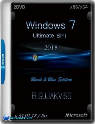 Windows 7 Ultimate SP1 Black&Blue (x86/x64) Elgujakviso Edition