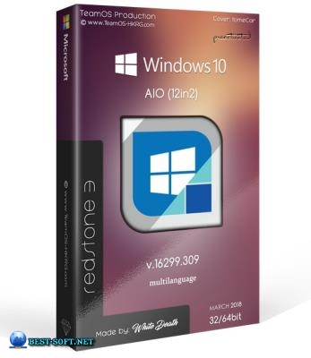 Windows 10 Rs3 1709.16299.309 Aio (x86x64) 12in2 (multilanguage Pre-activated March 2018-=team Os=
