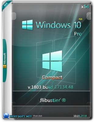 Windows 10 Pro Compact 1803 build 17134.48 {x64} by flibustier