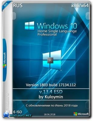Windows 10 HomeSL/Pro 1803 x86/x64 by kuloymin v13.4 (esd)