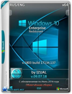 Windows 10 x64 Enterprise RS4 v.1803 With Update (17134.137) IZUAL 09.07.18 (esd)
