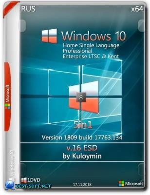 Windows 10 (v1809) x64 5in1 by kuloymin v16 (esd)