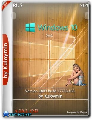 Windows 10 (v1809) 5in1 by kuloymin v16.1 (esd) (x64) (2018)