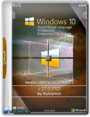 Windows 10 (v1809) 5in1 by kuloymin v17.1 64bit