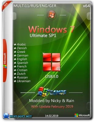 Windows 7 Ultimate SP1 x64 USB3.0 Modded by Nicky & Rain v.2