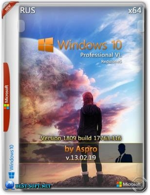 Windows 10 Pro VL RS5 x64 Rus v.13.02.19 by Aspro