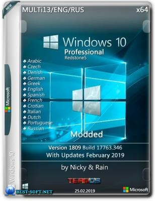 Windows 10 Pro x64 1809 Modded by Nicky & Rain