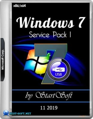 Windows 7 SP1 x86 x64 DVD-USB Release by StartSoft 10-11 2019