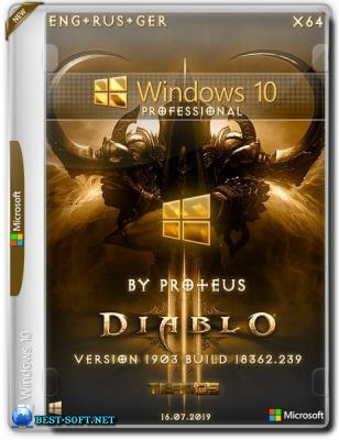 Windows 10 Pro (x64) 1903 build 18362.239 Diablo by Proteus
