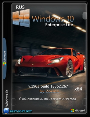 Windows 10 Enterprise (x64) Lite v.1903 build 18362.267 / by Zosma