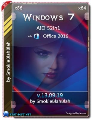 Windows 7 SP1 52in1 +/- Office 2016 by SmokieBlahBlah 13.09.19