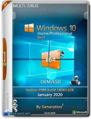 Windows 10 Home/Pro v.1909.18363.628 6in1 OEM/ESD Jan 2020 by Generation2 (x64)