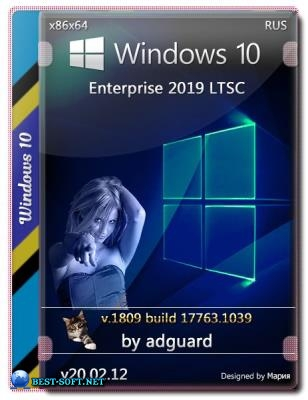 Windows 10 Enterprise 2019 LTSC Version 1809 with Update [17763.1039] 2DVD by adguard (v20.02.12) (x86-x64)