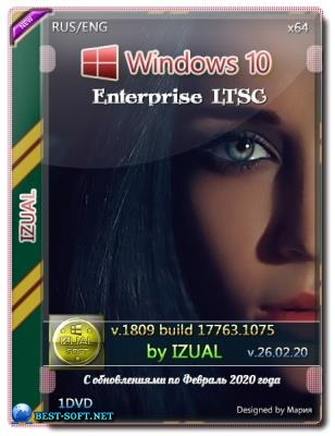 Windows 10 Enterprise LTSC v.1809 Build 17763.1075 IZUAL 26.02.20 x64bit